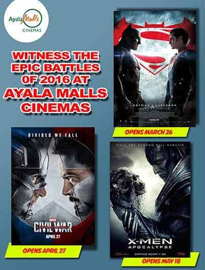 Epic Battles of 2016 at Ayala Malls Cinemas
