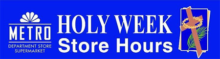 Holy Week Store Hours
