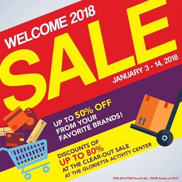 Glorietta Welcome 2018 Sale