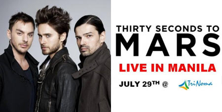 30 Seconds to Mars Live in Manila, TriNoma